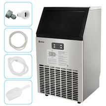 270W-500W 99Lbs 115V 60Hz Stainless Steel Commercial Ice Maker Black US Plug image 4