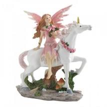 Pink Fairy With Unicorn Figurine - $17.38