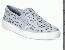 Michael Kors Keaton Slip-On Dusty Blue Leather ... - $120.00