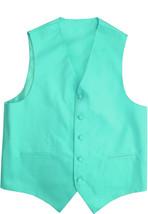 Men's Mint Adjustable Button Up Dress Vest for A Suit or Tuxedo 2XL w/ Defect image 1