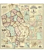 Plymouth County Massachusetts - Walling 1857 - 23.00 x 23.75 - $36.58+