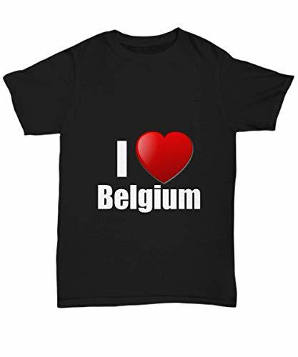 Primary image for Belgium T-Shirt I Love Country Lover Pride Funny Gift for Gag Unisex Tee