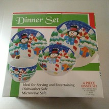 Frosty The Snowman Christmas 4 Piece Dinner Set New in Box - $17.82