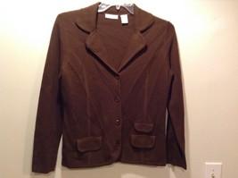 Preswick & Moore Classic Brown Cardigan/Blazer Sz M