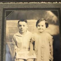 Vtg Photograph Smiling Children Brother Sister Artcraft Grants Pass Ore ... - $28.22