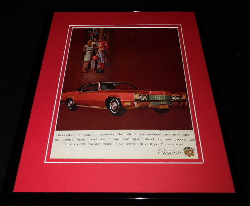 Primary image for 1969 Cadillac Fleetwood Framed 11x14 ORIGINAL Vintage Advertisement