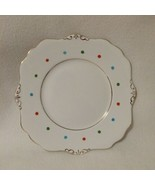 Royal Stafford Bone China Cookie Plate Red Green Turquoise Polka Dots Go... - $12.00
