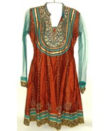 70s Boho Bohemian Dress Embellished India Ethnic Hippie Gypsy Festival V... - $147.51
