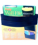 Poly Wall File Pockets by Steelmaster 3/set NEW see photos - $9.73