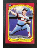 1986 Fleer Baseball Star Stickers - #109 - Tom Seaver - Chicago White Sox - $0.98