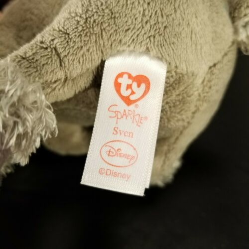 "Disney Plush Frozen Sven Reindeer Moose stuffed animal 7"" Ty Sparkle image 5"