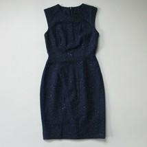 NWT J.Crew Collection Studded Constellation Sheath in Dark Blue Wool Dre... - $92.00