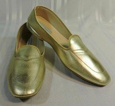 NEW Women's Vintage Daniel Green GOLD dancing slippers size 11 N Narrow WOW - $35.15