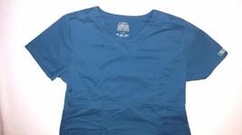 Cherokee Workwear Core Stretch Scrubs Ss Top L Shirt Caribb EAN Blue Large Carw - $24.95