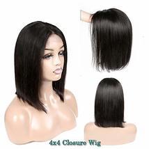 Short Bob Human Hair Wigs Brazilian Straight Virgin Human Hair Lace Front Wigs H image 2