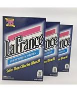 Vintage 1990s La France Laundry Whitener Lot of 3 16 oz Boxes New Dial C... - $74.95
