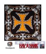 Hav-A-Hank BIKER IRON CROSS ENGINE Harley D HD Color BANDANA Head Face W... - $13.09