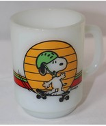 Anchor Hocking Snoopy Skateboard It's Great To Be An Expert Milk Coffee ... - $29.69