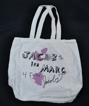 MARC JACOBS Cotton For Fun Tote SMALL White New - $38.81
