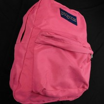 JanSport Student Backpack Vibrant Pink Bright Hiking School Overnight - $24.99