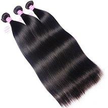 """Mink 8A Brazilian Virgin Hair Straight Remy Human Hair 3 Bundles Deals 12"""" 14"""" 1 image 3"""