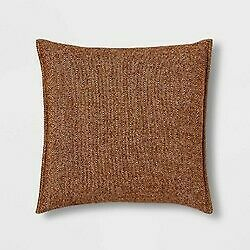 Oversize Square Woven Herringbone Pillow Brown - Threshold  STORE   - NEW !