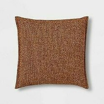 Oversize Square Woven Herringbone Pillow Brown - Threshold  STORE   - NEW ! image 1