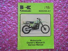 1980 80 Kawasaki KDX250-A1 KDX250 KDX250A1 Kdx 250 A1 Owner Service Manual - $23.93