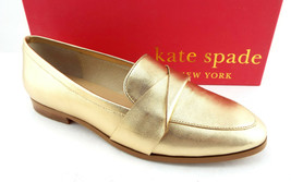New Kate Spade Size 7 Satchi Gold Metallic Loafers Flats Shoes - $94.00