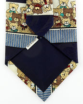 Teddy Bears Men's Neck Tie Novelty Wildlife Toy Bear Animal Dress Blue Necktie image 4