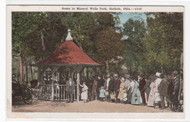 Mineral Wells Park Crowd Guthrie Oklahoma 1920c postcard - $6.73