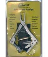 Camco Multi Tool with Flashlight Pouch New Sealed Gift Camillus NY Blade... - $19.79