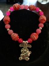 Handmade Paper Bead Children's Bracelet w/ Charm - $4.00