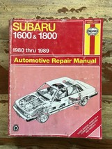 SUBARU 1600 & 1800  1980-1989   Haynes Repair Manual, Service Guide - $11.39