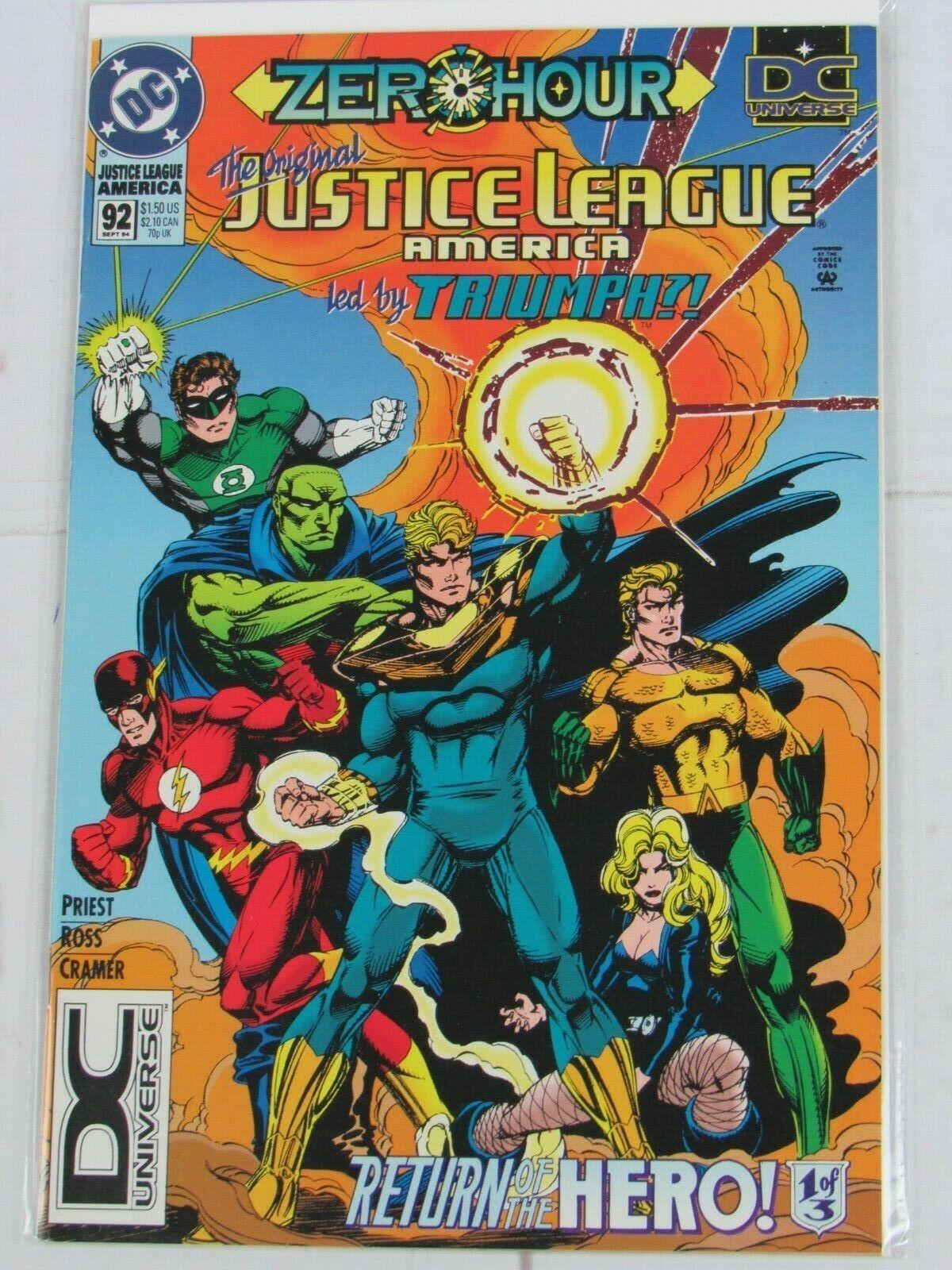 JUSTICE LEAGUE AMERICA # 92 (1994 DC) UNIVERSE LOGO VARIANT - C4985