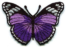 Butterfly insect boho hippie retro love peace embroidered applique iron-... - $5.86
