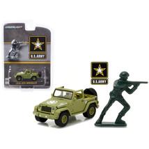 2016 Jeep Wrangler U.S. Army with U.S. Army Soldier Figure 1/64 Diecast ... - $18.45