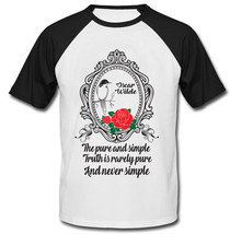 Oscar Wilde The Truth - New Cotton Baseball Tshirt - $27.10