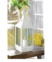10 White Lantern Large Candleholder Wedding Centerpieces - $188.05