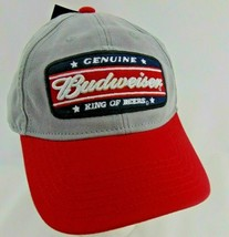 Budweiser Uomo Vintage Consumato Originale Re Di Birre Snapback Cappello Grigio