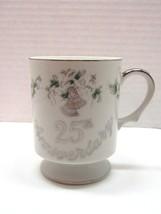 Lefton China 25th Anniversary Hand Painted Mug - $14.85