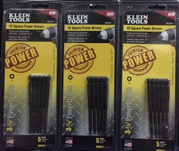 (3-Pack) KLEIN TOOLS 3-1/2 inch #2 Square Power Drivers (15 Bits Total) - €24,70 EUR