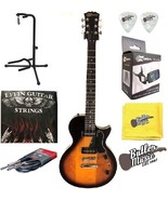 Effin Guitars LessP90/SB Brown Sunburst Electric LP Jr. Guitar w/Strings... - $179.95