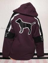Victoria's Secret Pink Plum Black White Campus Sherpa Hood Tunic Pullove... - $79.99