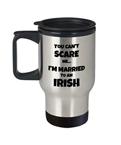 Irish Travel Mug Husband Wife Married Couple Funny Gift Idea for Car Novelty Cof