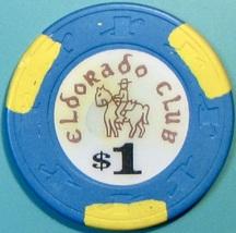 $1 Casino Chip, Eldorado Club, Gardena, CA. V69. - $3.99