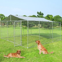 15' x 15' Large Pet Dog Run House Kennel Shade Cage-Kennel - $194.75