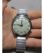 Vintage 50-60's Omega Seamaster Automatic Men Silver Tone Stretch Band W... - $299.99