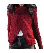 Cardigan Wine Red Single Breasted Women Sweaters Winter Warm Plus Size F... - $40.92+