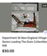 Department 56 New England Village Series Loading The Grain Collectible NIB - $30.00